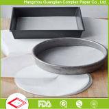 Círculos de papel pergamino Non-Stick crudo tarta redonda camisas Pan