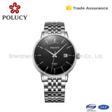 卸し売り自動機械金の人の骨組ステンレス鋼は腕時計をインポートした