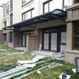 Toldo em liga de alumínio contínuo moderno de Windows do policarbonato do frame, toldo das portas