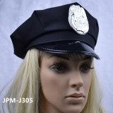 Gosses bleus d'enfant d'équipement de Veille de la toussaint de chemise de chapeau de cop de costume de policier de garçons