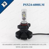 Lmusonu X3 Psx24 LEDのヘッドライト12V 24V 25W 6000lm LED自動軽い車の部品
