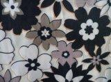 Impressão em relevo Flor tecido veludo macio (HZS--00302)