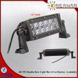 barre blanche ambre d'éclairage LED de 3W Epistar pour 4X4 tous terrains