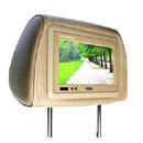 """7 """" 방석 (7580)를 가진 머리 받침 TFT LCD 컬러 모니터"""