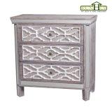 ホーム装飾の家具のハンドメイドの切り分けられた華やかな木の収納キャビネット