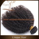 Уток волос девственницы скручиваемости Afro бразильский