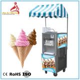 Bq322 2+1 Mélanger la saveur commerciale servent de la crème glacée molle la machine