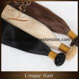 Extensões lisas européias por atacado do cabelo da ponta do cabelo humano de Remy 100%