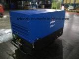Los patines de Copco Liutech 180cfm del atlas montaron el compresor de aire diesel portable