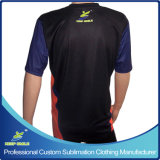Kundenspezifisches Sublimation Bowling Sport- T Shirt mit Custom Design