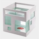Weißes quadratisches Fisch-Großhandelsacrylsauerbecken