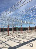 Edificio de la azotea del pabellón del palmo grande de la estructura de acero prefabricado