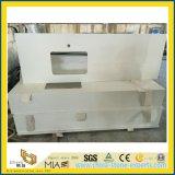 Multifunctionele Witte/Zwarte/Beige Opgepoetste Countertop van de Steen van het Kwarts voor Badkamers/Keuken