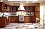 Rote Kirschfestes Holz-Küche-Schränke