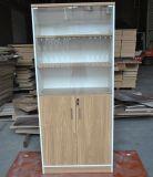 Armário de arquivos do Office personalizadas estante de madeira com mobiliário de escritório de porta