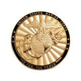 Moneta in lega di zinco del Corpo della Marina con rivestimento doppio di placcatura dello smalto (coin105)