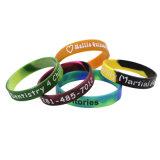 Logo personnalisé le dépistage de l'impression silicone fantaisie bracelet Bracelet en silicone de Nice