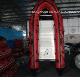 Liya 2m6.5m de Opblaasbare Boot van pvc met Buitenboordmotor
