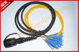 5.0mm assemblage Singelomode OpenluchtLC voor de Zwarte Kabel G657A2 van Ericsson RRU