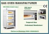 Industrieel Roestvrij staal Twee Dek Zes Oven van het Gas van het Dienblad de Commerciële
