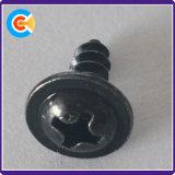 Phillips à tête cylindrique en acier au carbone Tapping Vis avec rondelle