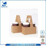 習慣によって折られるアートペーパーの包装のコーヒー紙箱