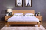固体木のベッドの現代ダブル・ベッド(M-X2259)