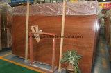 床タイル、カウンタートップ、虚栄心の上のための磨かれた赤い木の穀物の大理石の平板