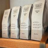 El papel de estraza Gusseted café Bolsas con cremallera