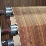 家具(4838-15)のためのシマウマ縞の木製の穀物の装飾的なペーパー