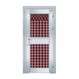 Diseño de la puerta exterior del acero inoxidable