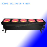 Matrice de LED Bar COB Blinder lumière LED RVB 30W 5 3 en 1