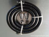 Arandela de presión cable trenzado de gasolina de goma flexible dispensador de combustible/aceite