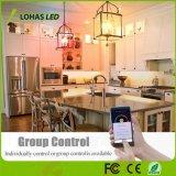 5W E12 Smart WiFi de la luz de velas LED Lámpara de control de la App.