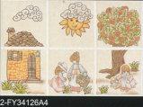 mattonelle di ceramica della parete del getto di inchiostro lustrate 300X450mm