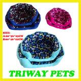 연약한 우단 개 고양이 애완 동물 침대 (WY406-1A/C)