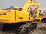 Excavatrice utilisée de KOMATSU 22ton d'excavatrice de chenille de KOMATSU PC220-6