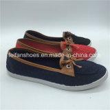最も新しい女性の余暇のズック靴の注入の平らな靴(PY0315-25)