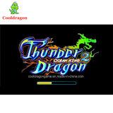 máquina azul de la arcada de juego video del buscador de los pescados de juegos del cazador de los pescados del dragón del trueno 3D