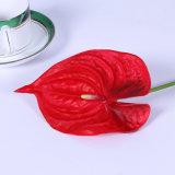 2018 Hot Sale Home Decor Anthurium artificiel Fleur rouge