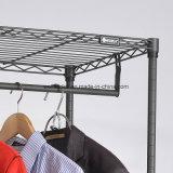침실 공간 절약 철강선 팽창할 수 있는 옷장 조직자 자유로운 서 있는 의복 피복 선반