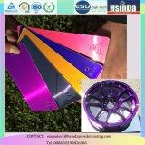 Capa decorativa púrpura del polvo del caramelo transparente