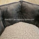 Qualità dell'OEM dell'animale domestico della base del cane del gatto di sofà della fabbrica di cuoio grigia di lusso della base migliore