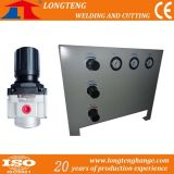 Painel do sistema de controle de gás com regulador de pressão e regulador de gás