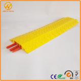 Rampes jaunes de câble d'étage de PVC de la Manche du mètre 3 de la couverture une