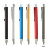 Het beste Verkopende Goedkope Embleem drukte de Zwarte Pen van het Metaal af