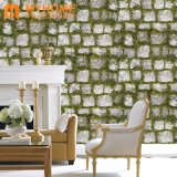 Diseño natural de vinilo de PVC resistente al agua Home Wallpaper con catálogos