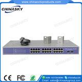Системы видеонаблюдения Системы Безопасности 24 портов Poe с встроенным силовым блоком (POE2402SFP-3)