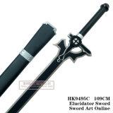 Spada nera in linea Elucidator HK9495c 109cm di Kirigaya Kazuto Kirito di arte della spada