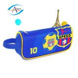Saco do lápis do projeto do futebol para a transferência térmica Pringting do menino